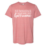 Sunshine & a Mix of Hurricane - Graphic Tee/Marbled Heather (4489388097608)