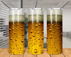 Beer - Skinny Tumbler with Metal Straw - abby+anna's boutique