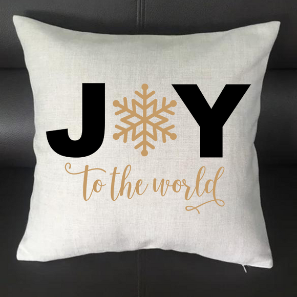 Joy to the World Pillowcase Cover - 16x16 - abby+anna's boutique