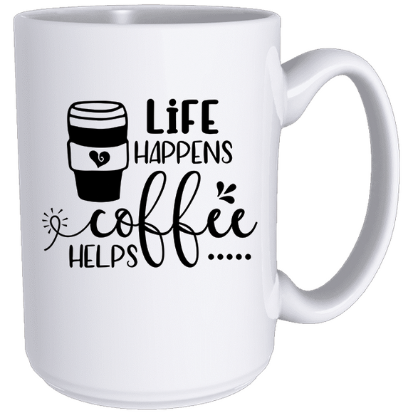 Life Happens, Coffee Helps - Classic Mug - abby+anna's boutique