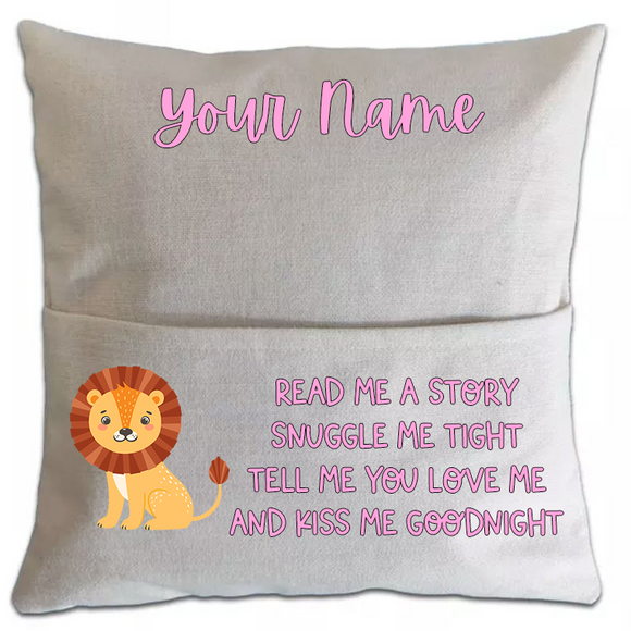 Lion Pillowcase Cover w/ pocket (5751172333733)