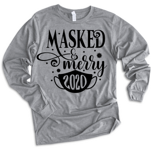 Masked & Merry - Long Sleeve Tee (6076663496885)