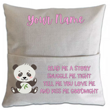 Panda Pillowcase Cover w/ pocket - abby+anna's boutique