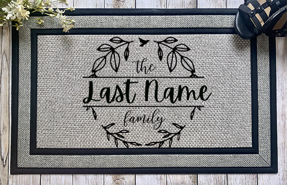 Personalized Family Door Mat - abby+anna's boutique