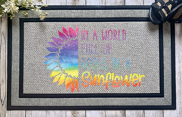 Be a Sunflower Door Mat - abby+anna's boutique