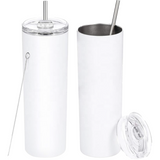 Skinny Tumbler with Metal Straw - Personalize It! (5549816152229)