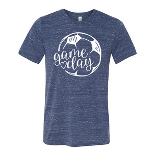 Soccer Game Day - Graphic Tee/Marbled Heather (4489391374408)