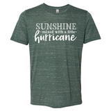 Sunshine & a Mix of Hurricane - Graphic Tee/Marbled Heather - abby+anna's boutique