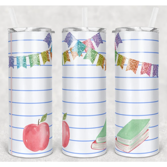 Teacher - Skinny Tumbler with Metal Straw - abby+anna's boutique