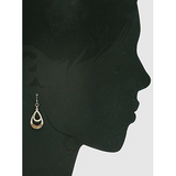 Wire Wrapped Two Tone Metal Teardrop Earrings - abby+anna's boutique