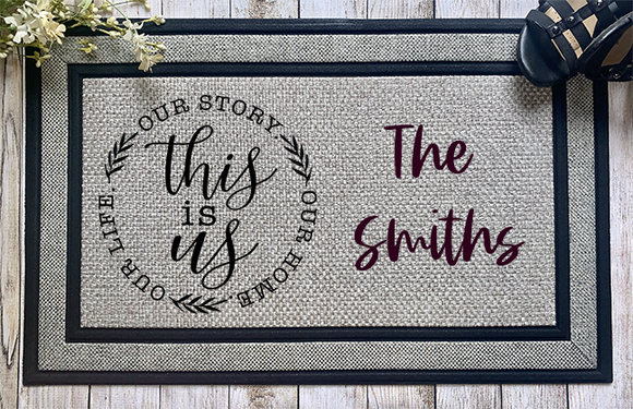 This is Us Personalized Door Mat - abby+anna's boutique