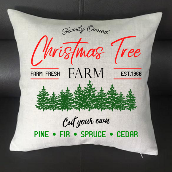 Christmas Tree Farm Pillowcase Cover - 16x16 - abby+anna's boutique