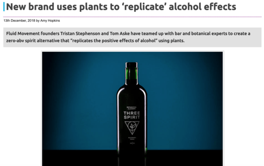 The Spirits Business: New brand uses plants to 'replicate' alcohol effects
