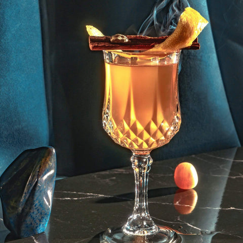 Crystal-glass-poured-nightcap drink