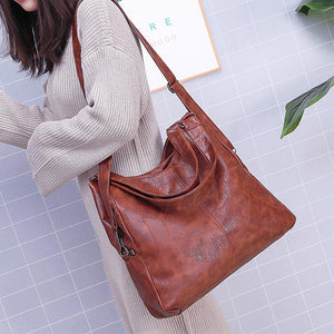 Classic Genuine Leather Women Shoulder Bag