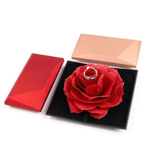 💗Ultimate Romance💗3D Pop Up Rose Ring Box