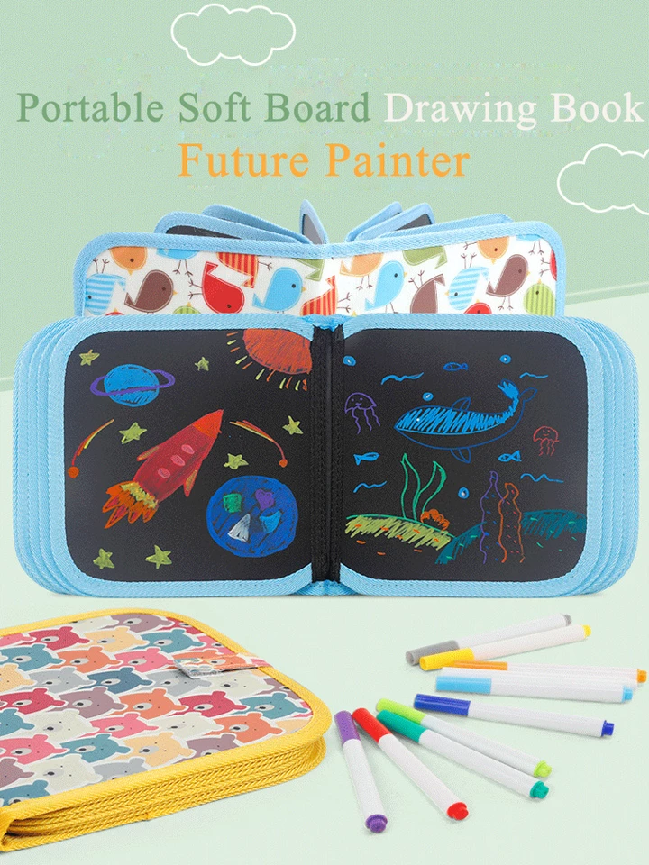 Portable Soft Chalk Board Drawing Book