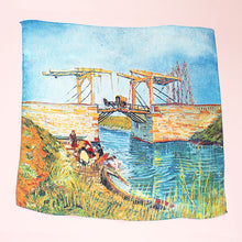 Load image into Gallery viewer, RIVER PRINT SILK SQUARE -022