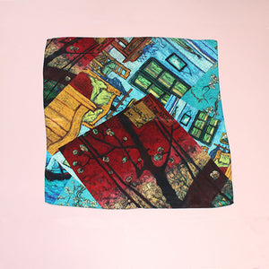 ABSTRACT PRINT SILK SQUARE (WAS £20)