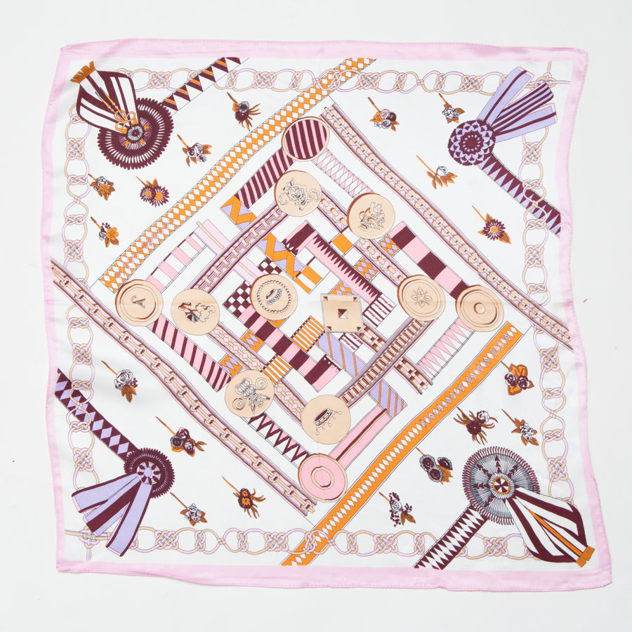COIN PRINT SILK SQUARE