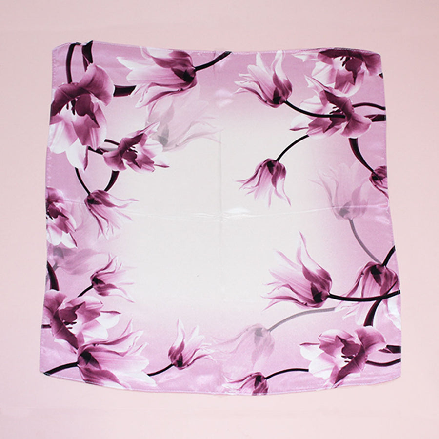 PINK FLORAL PRINT SILK SQUARE (WAS £20)