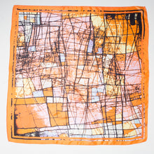 Load image into Gallery viewer, ABSTRACT PRINT LARGE SILK SQUARE - 201