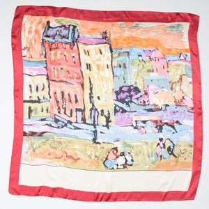 PARISIAN STREET PRINT LARGE SILK SQUARE -208