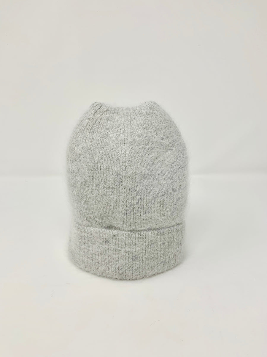 ANGORA WOOL HAT - SILVER GREY
