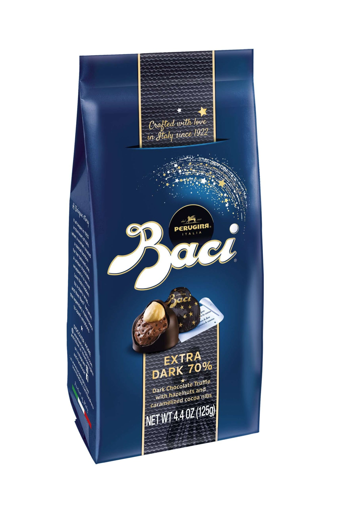 Baci Perugina Extra Dark 70% Chocolate Truffles Bag, 125 g
