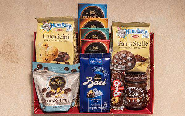 Gourmet Italian Chocolate Gift Basket - Sweets & Cookies – Premium Imported from Italy