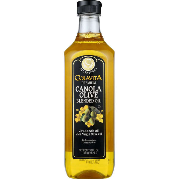Colavita Canola 75/25 Virgin Blended Oil, 32 Fl Oz