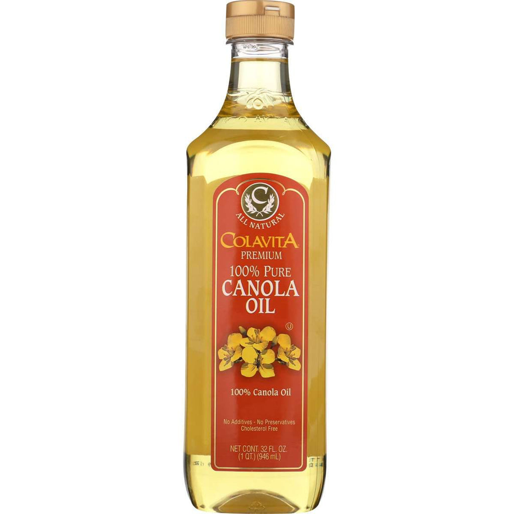 Canola Oil - 100% Pure All Natural - Colavita - Easy Pour Cap - 32 Fl Oz - 1 Quart