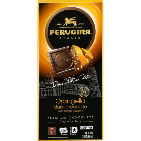 Gourmet Orange Dark Chocolate Bar - Orangello Perugina Premium Italian - 3oz (86 g)