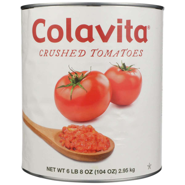 Crushed Canned Tomatoes - 6.5 lbs -  Bulk Food Service - Colavita Premium Imported from Italy -  104 oz