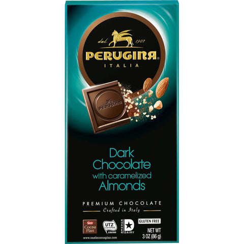 Perugina Dark Chocolate & Almonds Bar, 86 g