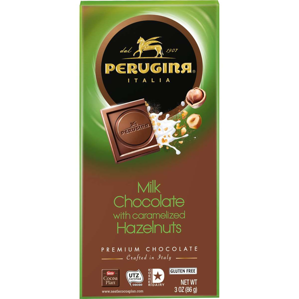 Perugina Milk Chocolate & Hazelnuts Bar, 86 g