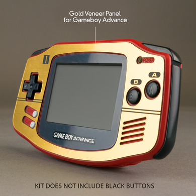 Famicom Style Gold Veneer for Game Boy Advance
