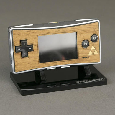Game Boy Micro Zelda Real Mahogany Wood Veneer Faceplate - Zelda Mystique Edition