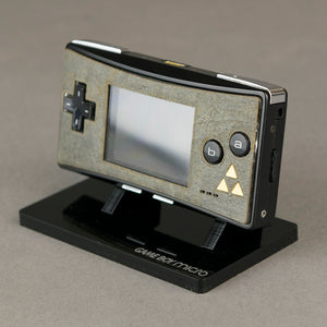 Game Boy Micro Real Stone Veneer Faceplate -  Zelda Mystique Edition