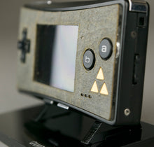 Load image into Gallery viewer, Game Boy Micro Zelda Real Stone or Wood Veneer Faceplate