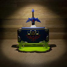 "Load image into Gallery viewer, ""New"" 2DS XL Hylian Shield Edition Display Stand"