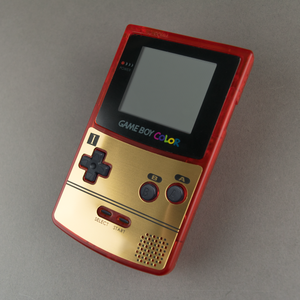 Famicom Style Gold Veneer for Game Boy Color