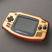 Load image into Gallery viewer, Famicom Style Gold Veneer for Game Boy Advance