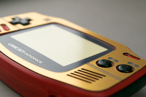 Famicom-style Gold Veneer for Game Boy Advance