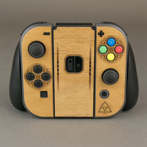 Nintendo Switch Joy-Con Controller Zelda Wood Veneer Kit