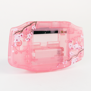 Game Boy Advance Replacement Shell - Cherry Blossom - UV-Printed Design