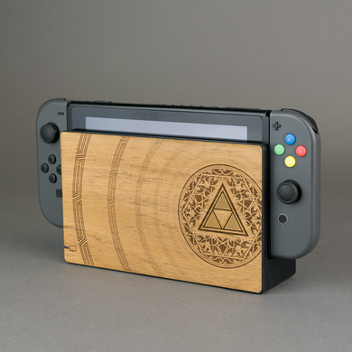 Nintendo Switch Console Zelda Real Wood Veneer Kit