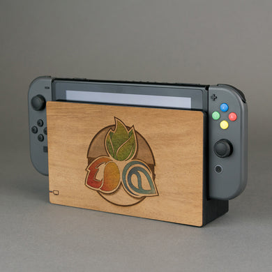 Nintendo Switch Console Dock Pokemon Real Wood Veneer Kit