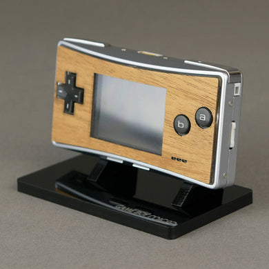 Game Boy Micro Real Wood Veneer Faceplate