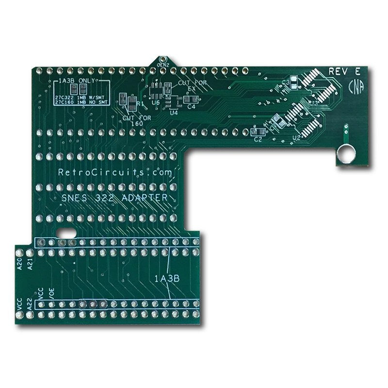 SNES reproduction adapters (for use with 27C160/27C322 and donor PCB)